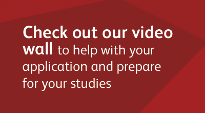Find help and advice on the UCAS video wall