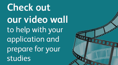 Promotional text and image linking to UCAS video wall