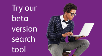 Promotional text and image linking to UCAS beta search tool