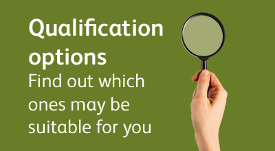 Find out what qualifications are available with progression pathways