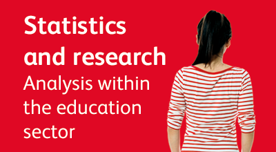 Promotional text and image linking to UCAS data and analysis